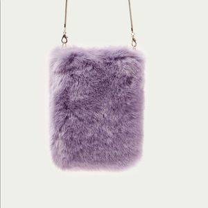 ZARA - Lilac Faux Fur Crossbody Bag